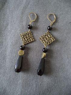 Or 5pc Laiton Plaqué Zircon Boucle d/'oreille Crochet Dangle pendre Boucle Earwire 17 mm
