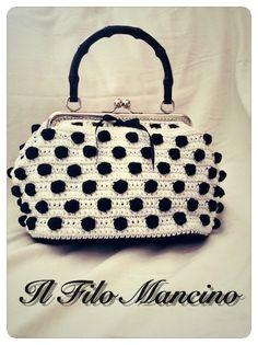 Borsa MISS FIFTY'S stile vintage originale elegante e sfiziosa sembra uscita direttamente dagli anni '50. Stile retrò chic retròchic crochet by IlFiloMancino #italiasmartteam #etsy
