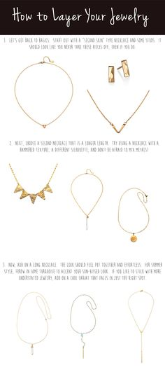 Variety is the secret to jewelry layering...and life!