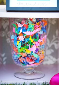 paper cranes as inexpensive adorable favors...i think yes  #dreamwedding