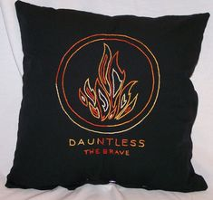 Divergent Inspired, CUSTOM, Dauntless: The Brave, Throw Pillow, Summer Sale on Etsy, $15.00