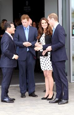 Prince Harry, William and Catherine attended the launch of Warner Bros. Studios in Hertfordshire. They  brought along 500 children and adults from their various charities 26 Apr 2013