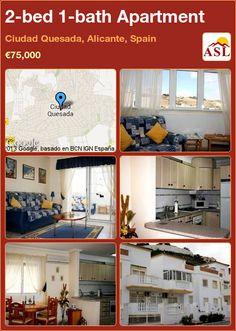 2-bed 1-bath Apartment in Ciudad Quesada, Alicante, Spain ►€75,000 #PropertyForSaleInSpain