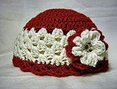 Flower Hat free crochet pattern.
