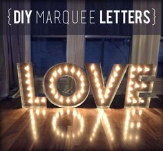 DIY Marquee Letters - Celebrations