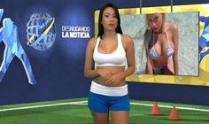 La presentadora Yuvi Pallares, que hace parte del polémico noticiero venezolano 'Desnudando la Noticia', quedó como Dios la trajo al mundo hablando del portugués.
