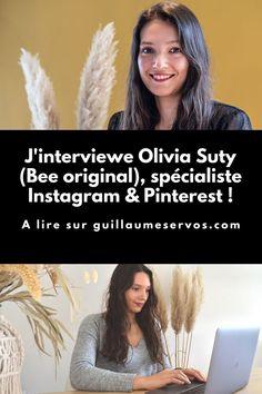 Découvre mon interview avec Olivia Suty (Bee original), spécialiste Instagram et Pinterest. Au menu : freelancing, réseaux sociaux, voyage… Pour cet épisode 93, je te présente Olivia Suty, social media manager et formatrice, spécialisée sur Pinterest et Instagram.