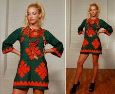 vintage indian cotton mini dress tunic top. $50.00, via Etsy.