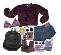 """""""To be happy somehow"""" by tarynasaurus ❤ liked on Polyvore featuring moda, Dr. Martens, Patagonia, Dahlia y Polaroid"""