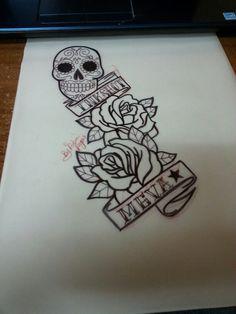 Rosas calavera de azucar
