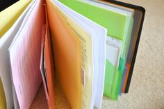 awesome way to organize those important papers , ya know the ones you always need to find but cant in that pile of papers that are important but to head achy to organize?  {diy: important document binders}