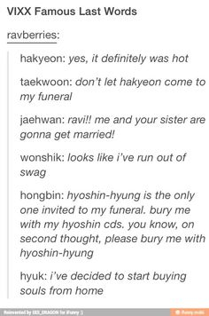 VIXX last words XD