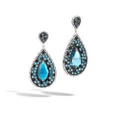 New Arrival: Classic Chain Drop Earrings Silver Wiith London Blue Toppaz #JohnHardy #MyJohnHardy