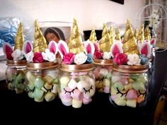 DIY Unicorn Baby Shower Ideas - Unicorn Dreaming As an example, in the event you Diy Unicorn Birthday Party, Baby Birthday, Birthday Party Decorations, Baby Shower Decorations, Bday Girl, Birthday Ideas, Baby Shower Unicornio, Unicorn Centerpiece, Fiesta Baby Shower