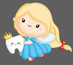 Illustration about A vector of a tooth fairy holding a tooth. Illustration of teeth, dentist, crown - 145350994 Fairy Clipart, Cute Clipart, Tooth Fairy Pictures, Tooth Clipart, Tooth Cartoon, Teeth Pictures, Cute Tooth, Dental Kids, Cute Fairy