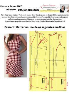 Fashion Sewing, Diy Fashion, Sewing Clothes, Diy Clothes, Clothing Patterns, Sewing Patterns, Costura Fashion, Dress Making Patterns, Sewing Lessons