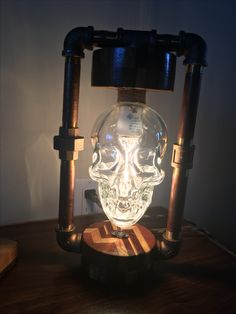 Crystal Head Vodka Lamp - Skull Light - Steampunk ...
