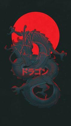 Samurai Wallpaper, Glitch Wallpaper, Naruto Wallpaper, Dark Wallpaper, Red And Black Wallpaper, Kawaii Wallpaper, Wallpaper Wallpapers, Dragon Wallpaper Iphone, Japanese Wallpaper Iphone