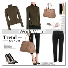 """""""Work wear!"""" by tatajrj ❤ liked on Polyvore featuring Vision, Behance, Alexander McQueen, Ciaté, Chanel, WorkWear, Work, Street and workblazer"""