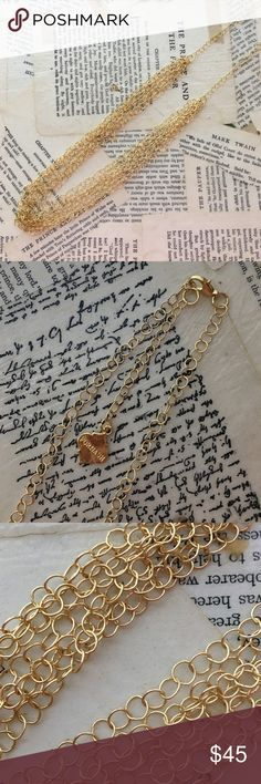 Lightweight Gold Necklace Beautiful, very lightweight gold chain necklace. Only worn once, in brand new condition! fornash Jewelry Necklaces