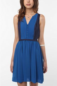 i have a new love for blue -- Cooperative Milly Colorblock Dress $79