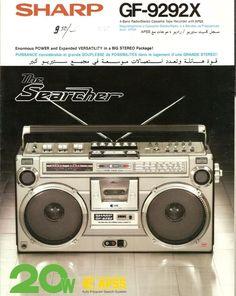 Audio Vintage, Vintage Ads, 1980s Boombox, Tape Recorder, Hifi Audio, Old Tv, Print Ads, Audiophile, Mathematics