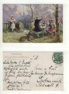 Studentika AK Studentenlieder Stoß AN Burschenwohl Studenten 1913 Heidelberg | eBay