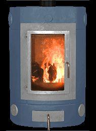 Ecco Stove ® E730 wood burning masonry heater in Metallic Blue with Light Grey trims and casting. #eccostove  #ecco #stove #simpleheater #designyourowne730 #alternativeheating