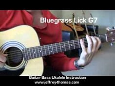 """This is a cool bluegrass style guitar lick for a G7 chord """"Watch & Learn"""" style! Find more great FREE guitar, bass and ukulele lessons here on the Official YouTube channel for Jeffrey Thomas:  https://www.youtube.com/user/jtlessons?feature=mhee"""