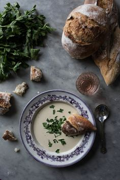 Cream of White Asparagus & Nutmeg Soup - From My Dining Table by Skye McAlpine