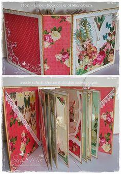 Webster's pages mini album using Postcards from Paris II Scrapbook Background, Mini Scrapbook Albums, Graphic 45, Diy Mini Album Tutorial, Book Crafts, Paper Crafts, Diy Crafts, Postcard Album, Paper Bag Album