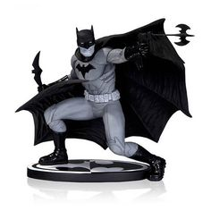 Batman Black and White by Francis Manpul Statue -- Click on the image for additional details. (This is an affiliate link) #DCComics