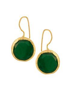 Ottoman Hands Circle Drop Earrings
