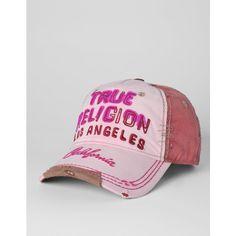 True Religion Brand Jeans Logo Felt Baseball Cap ($65)