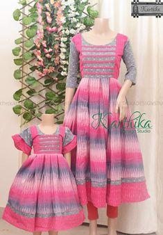 Simple Frock Design, Girls Frock Design, Long Dress Design, Baby Dress Design, Kids Frocks Design, Baby Frocks Designs, Baby Girl Dresses Diy, Stylish Dresses For Girls, Kids Dress Wear