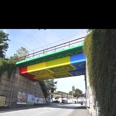 Lego Bridge (Germany) by street artist Martin Heuwold