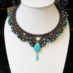LaiThai Crochet necklace. $14.90, via Etsy.