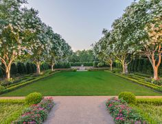 Formal Boxwood Garden, Harold Leidner Co., Landscape Architects, Dallas, TX