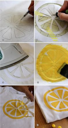 DIY-lemon-t-shirt-steps // aliceandlois.com
