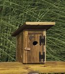 Amish Rustic Outhouse Garden Bird House Outdoor Accents Collection What's the point in decorating if you can't have a little fun with it? Made with a smile by an expert Amish woodworker