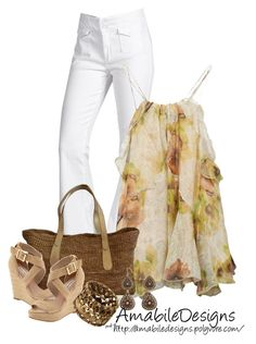 """""""#SpringTimeAmabileDesigns"""" by amabiledesigns ❤ liked on Polyvore featuring 7 For All Mankind, Isabel Marant, Flora Bella, Steve Madden, women's clothing, women, female, woman, misses and juniors"""