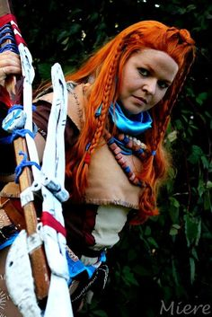 Aloy - Horizon Zero Dawn cosplay by Cosplayer: Heka and Photographer: Miere   #horizonzerodawn #aloy #cosplay