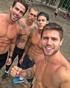 Mountain of Muscle for some Monday motivation! (pinning because I like the first guy's haircut.