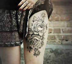 Цветочные татуировки | 669 фотографий