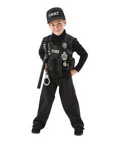 Look what I found on #zulily! Black SWAT Team Dress-Up Set - Toddler & Boys #zulilyfinds