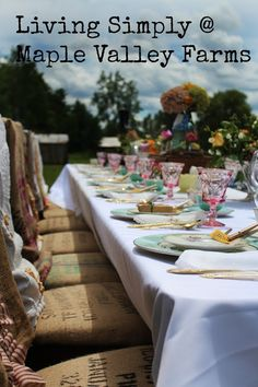 Living simply at Maple Valley Farm: More photos from the prairie wedding at Maple Valley Farm