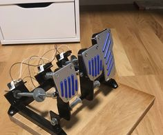I have a on going project to build a car-simulator and one goal is to get the feeling like sitting in a real racing-car. With this instruction I explain how I have build my pedals to my car simulator. Of course you can buy stuff like this but I want to build it cheap. My pedals have gas, brake and clutch and use a Arduino (Windows native drivers) to connect to usb port. Hope I can inspire you with my building and I meet you on a trackday in Project Cars!