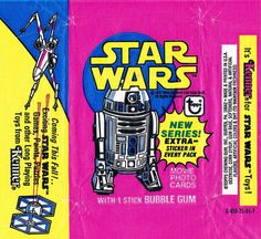 Star Wars bubble gum wrapper