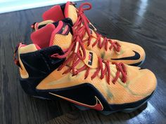 pick up 6f7ba 0039f Nike Lebron XII 12 Witness Orange 684593 830 Men s Size 11 Basketball Shoes