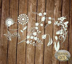 """Laser Cut Chipboard """"Set Spring [4]"""" by SiberianDIYcraftsArt on Etsy"""